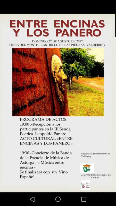 cartel Entre Encienas y los Panero