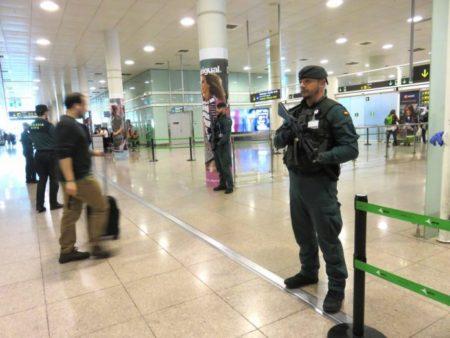 guardia-civil aeropuerto de El Prat Barna